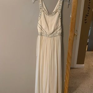 Forever 21 Cream Maxi Dress-Md